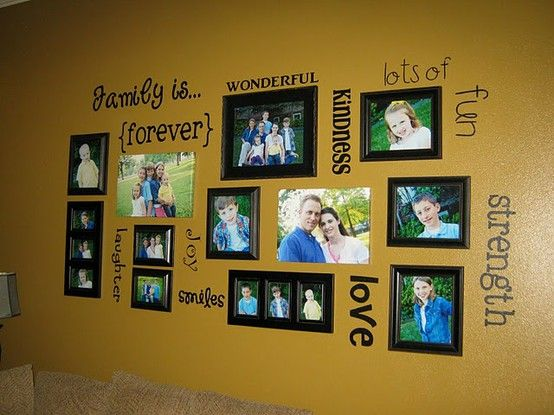 family picture wall - Click image to find more Design Pinterest pins ...