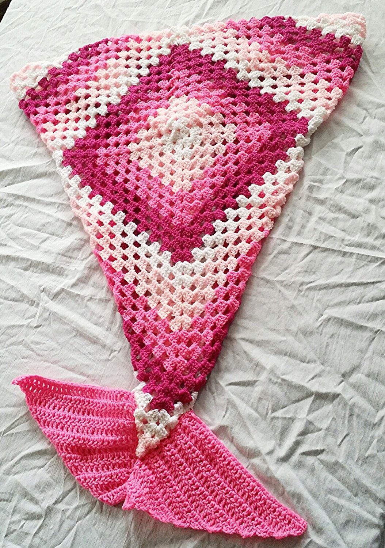 Crochet Mermaid Tail Blanket mermaid tail by StephanieTwistedYarn ...