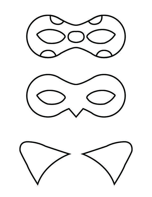Ladybug And Cat Noir Masks Free Printable Mascaras Para