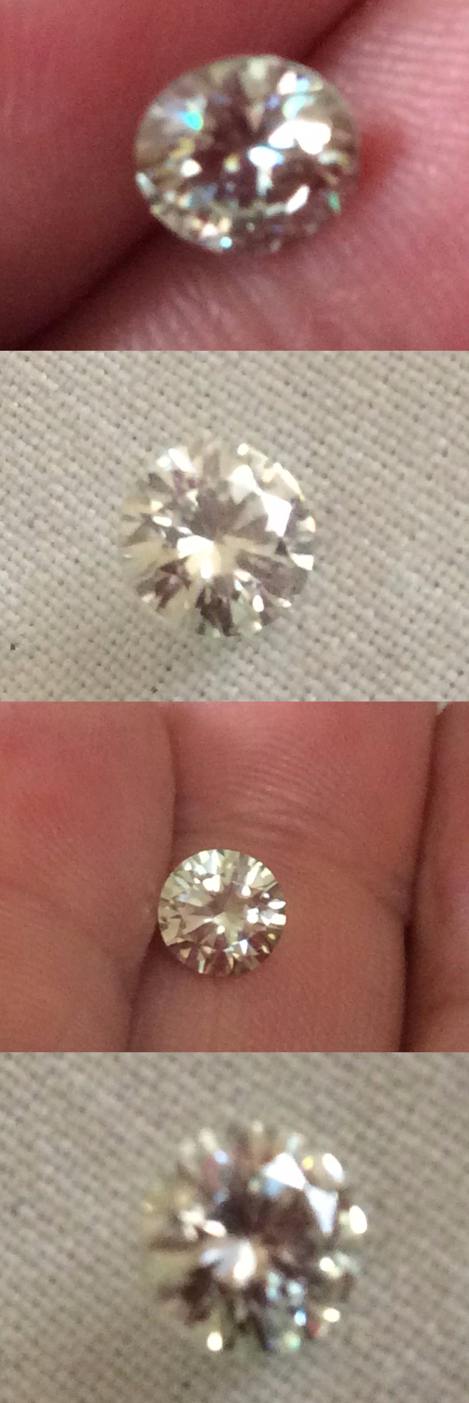 Lab Created Diamonds Moissanite 0 53 Ct 5 38 Mm White Yellow