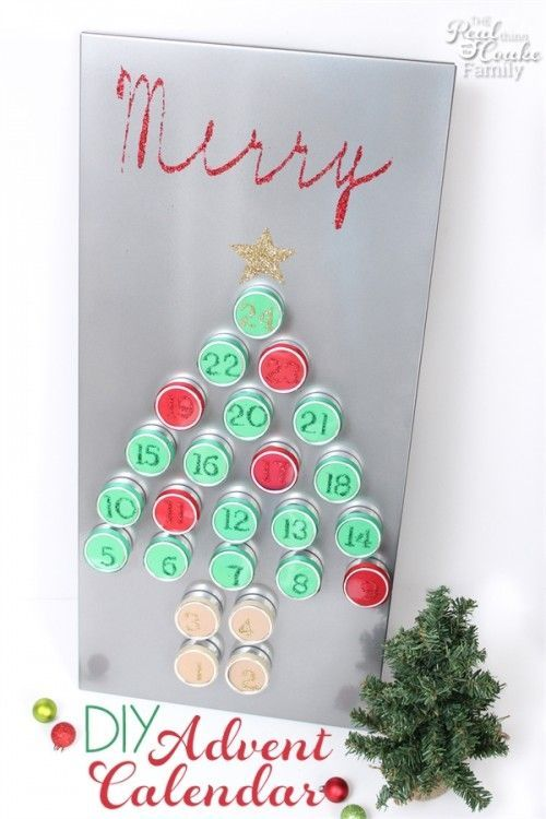 Beautiful DIY Reuseable Advent Calendar #wineadventcalendardiy Love this DIY advent calendar. It is so pretty and reusable. I love that it adds to my Christmas decorations and lets the kids countdown at the same time. Sponosred #wineadventcalendardiy