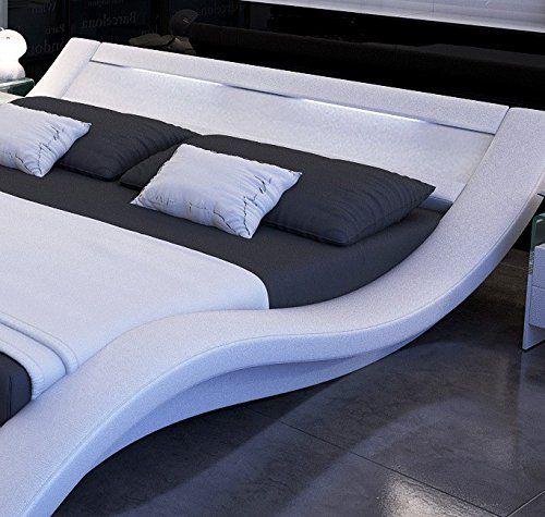 Muebles Bonitos Cama de diseo modelo Calpe en color Blanco 160x200