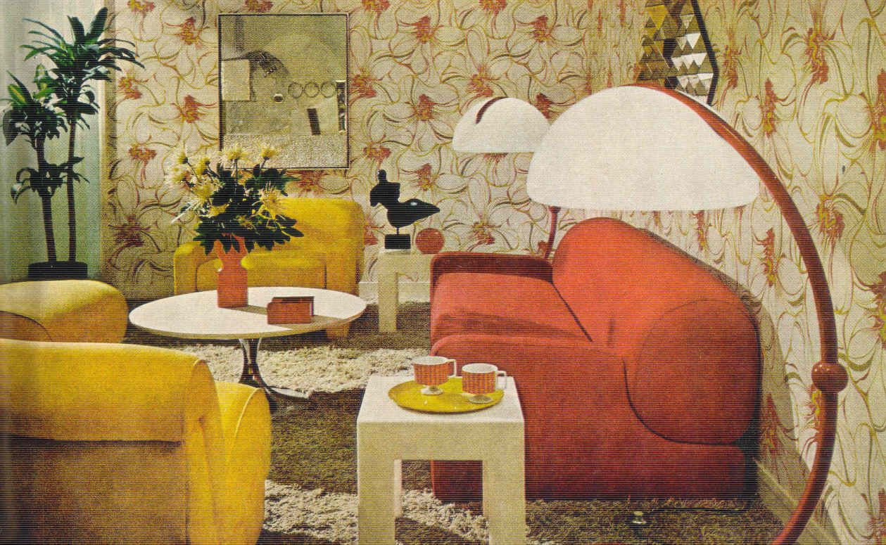 Gold Country Girls Colorful 70 S Interiors 70s Living Room 1970s Living Room Furniture 70s Interior