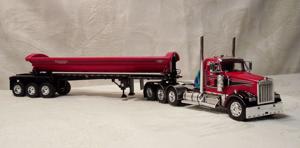 1//64 DCP RED SMITHCO SIDE DUMP TRAILER