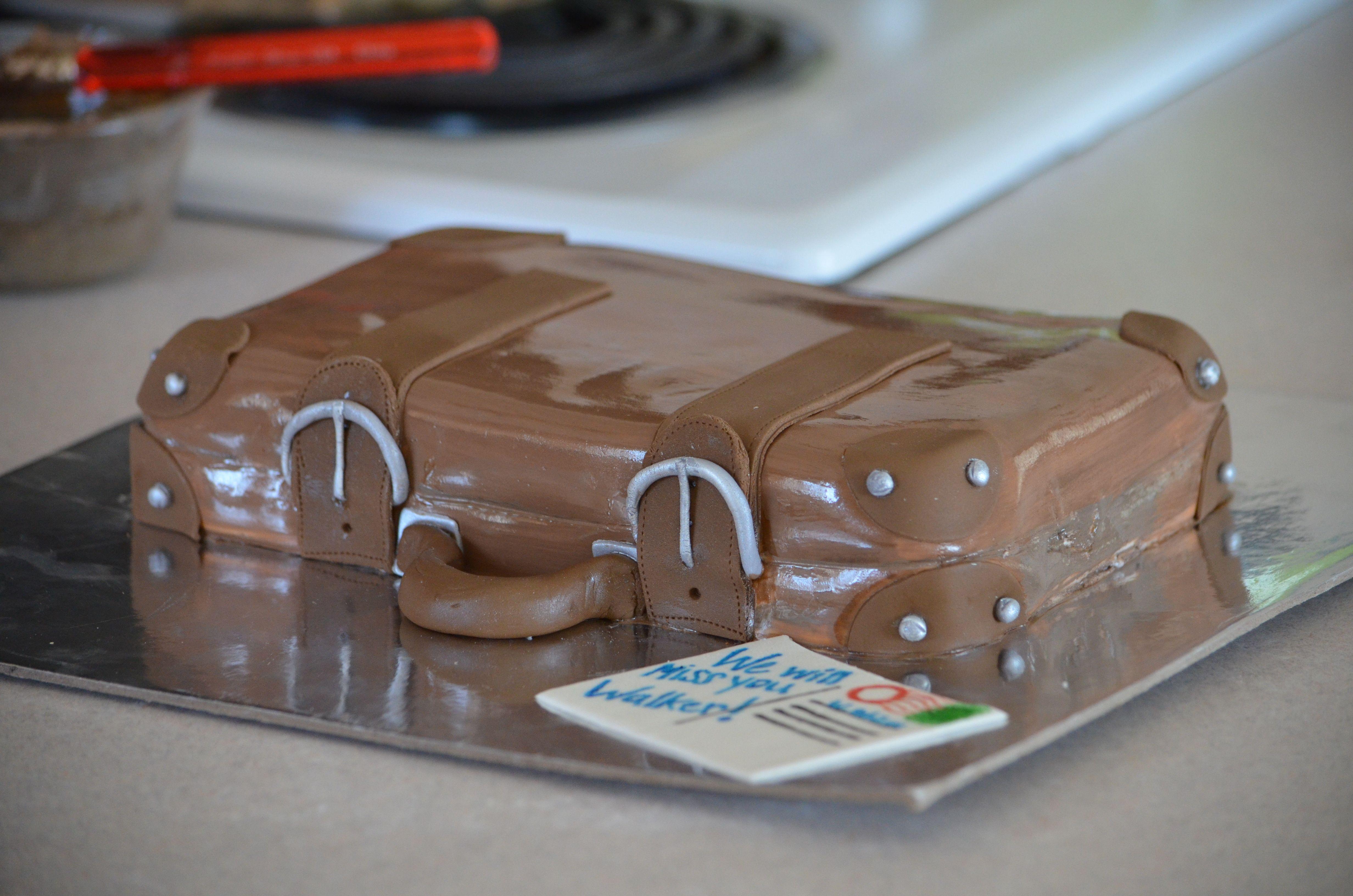 mini Suitcase cake. Going away cake