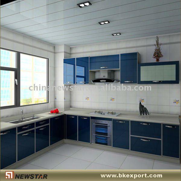 Mueble de cocina azul acero inoxidable buscar con for Google muebles de cocina