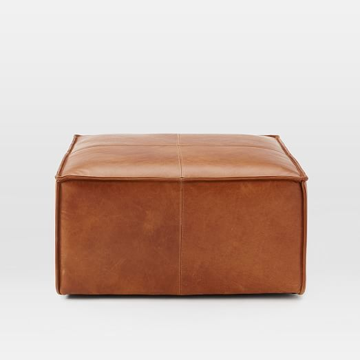 Sensational Leather Ottoman West Elm Leather Ottoman Coffee Table Pabps2019 Chair Design Images Pabps2019Com