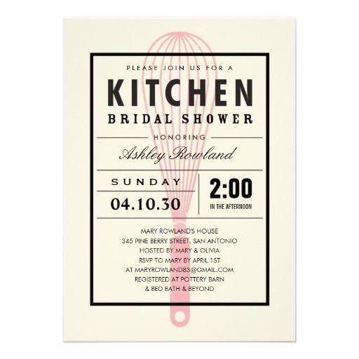 Bridal Kitchen Shower Invitations