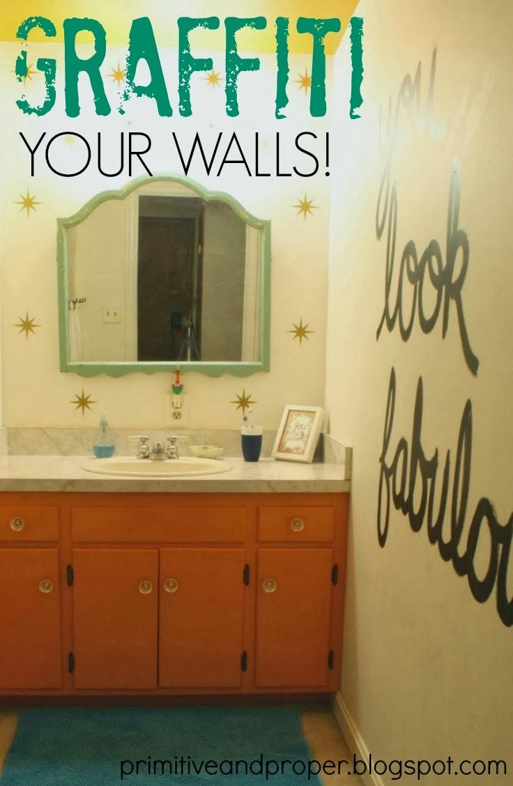 The Writing\'s on the Wall: Writing with Paint on the Wall | Wall ...