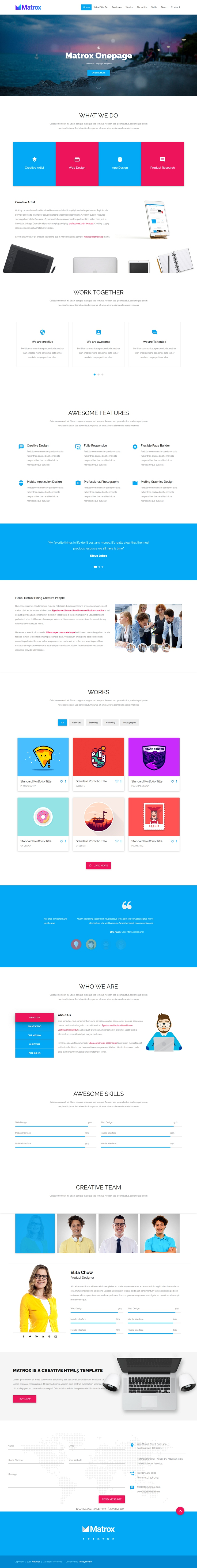 Matrox is a material design based responsive Bootstrap HTML