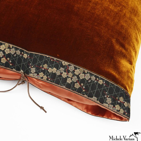 Michele Varian Shop - Silk Velvet Pillow Sienna 20x20