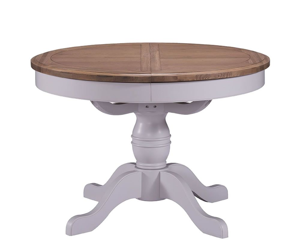 Everette Two Tone Round Extending Dining Table