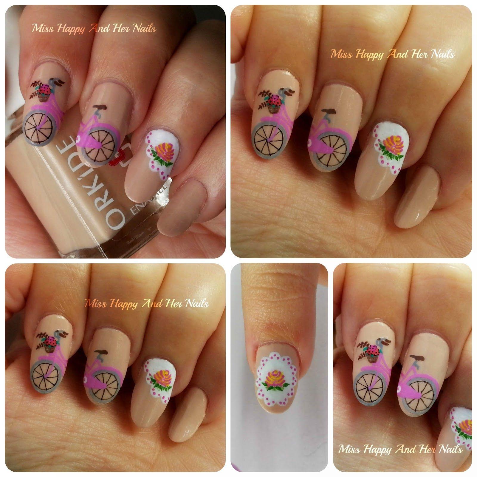 Letter b nail art