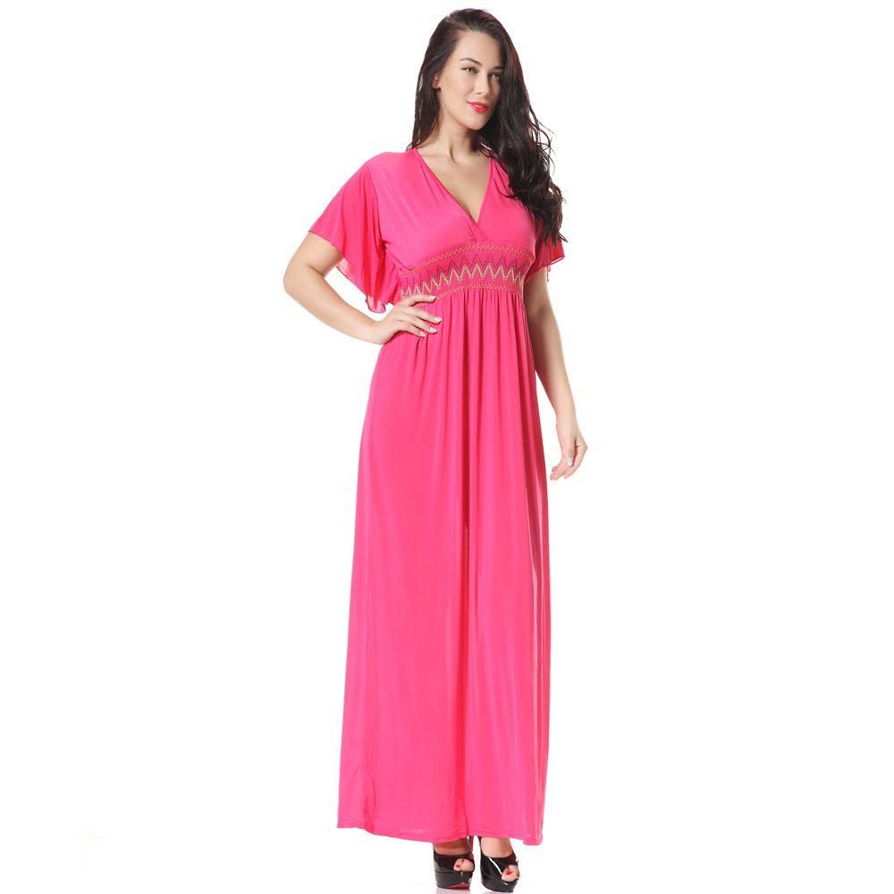 b657b981b4 M-6XL Plus Size Summer Women Maxi Long Dresses 4XL Big Large Size ...