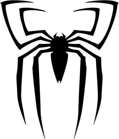 12 best photos of spider man logo black and white spider man rh pinterest com The Amazing Spider-Man 2 Logo Spider-Man 2 2004 Logo