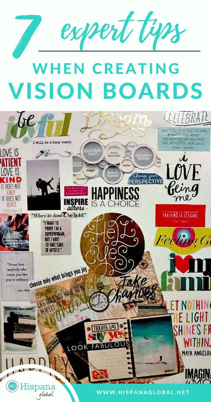 7 Expert Tips When Creating Vision Boards Creating