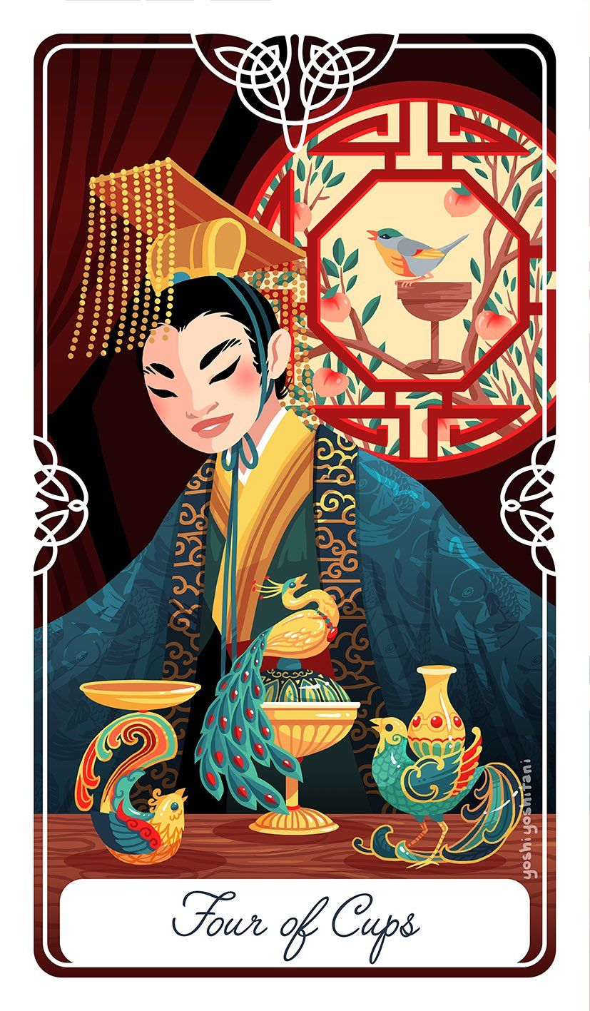 4 four of cups the nightingale and the emperor of china