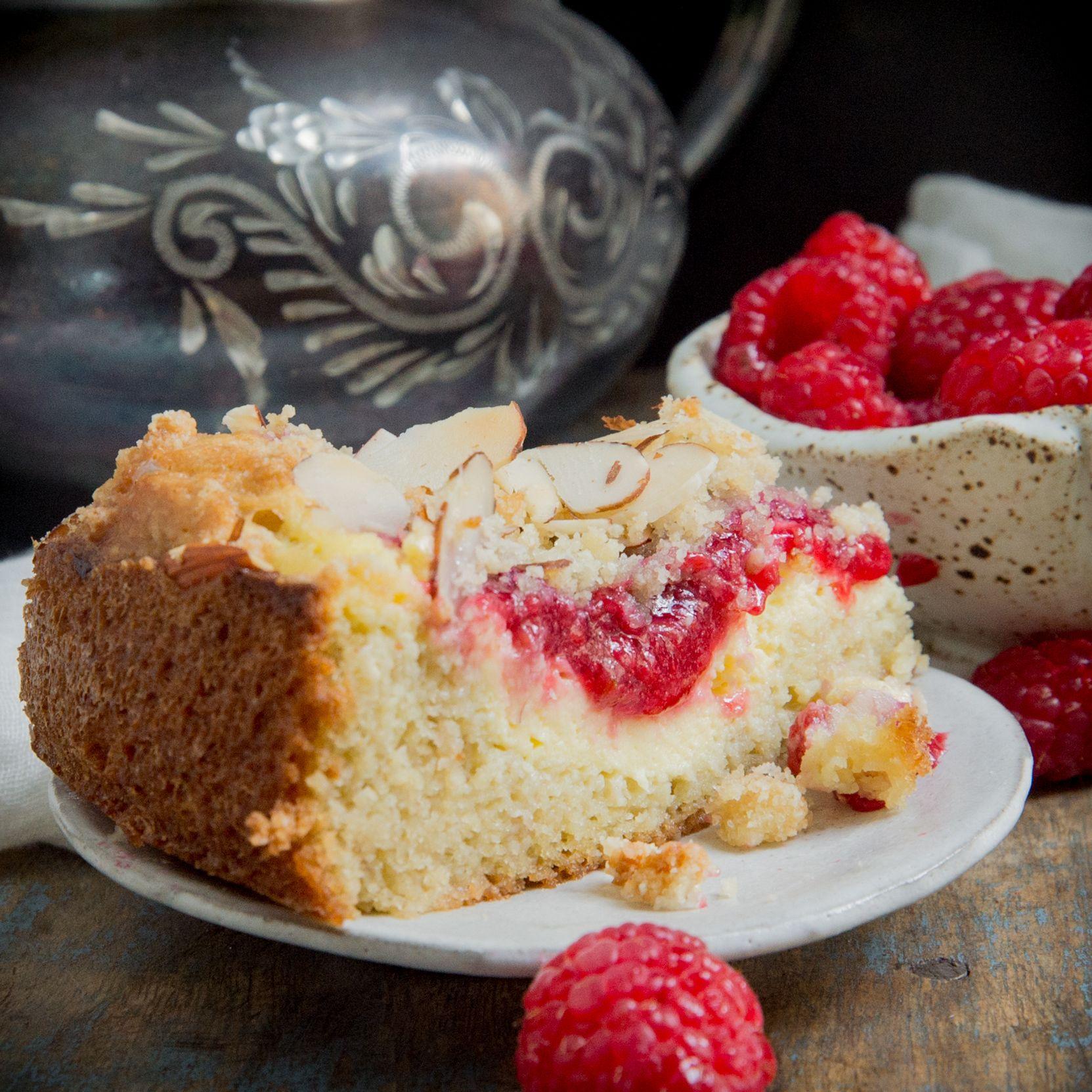 Keto Raspberry Cream Cheese Coffee Cake - Simply So Healthy in 2020 | Cream cheese coffee cake ...