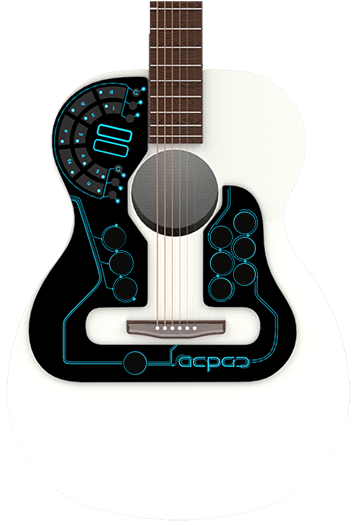 acpad world 39 s first wireless midi controller for acoustic guitar music tech guitar. Black Bedroom Furniture Sets. Home Design Ideas