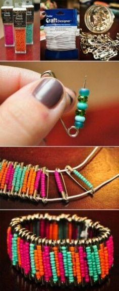 DIY Colorful Bracelet Jewelry Diy Crafts Home Made Easy Craft Idea Ideas Do It Yourself Projects