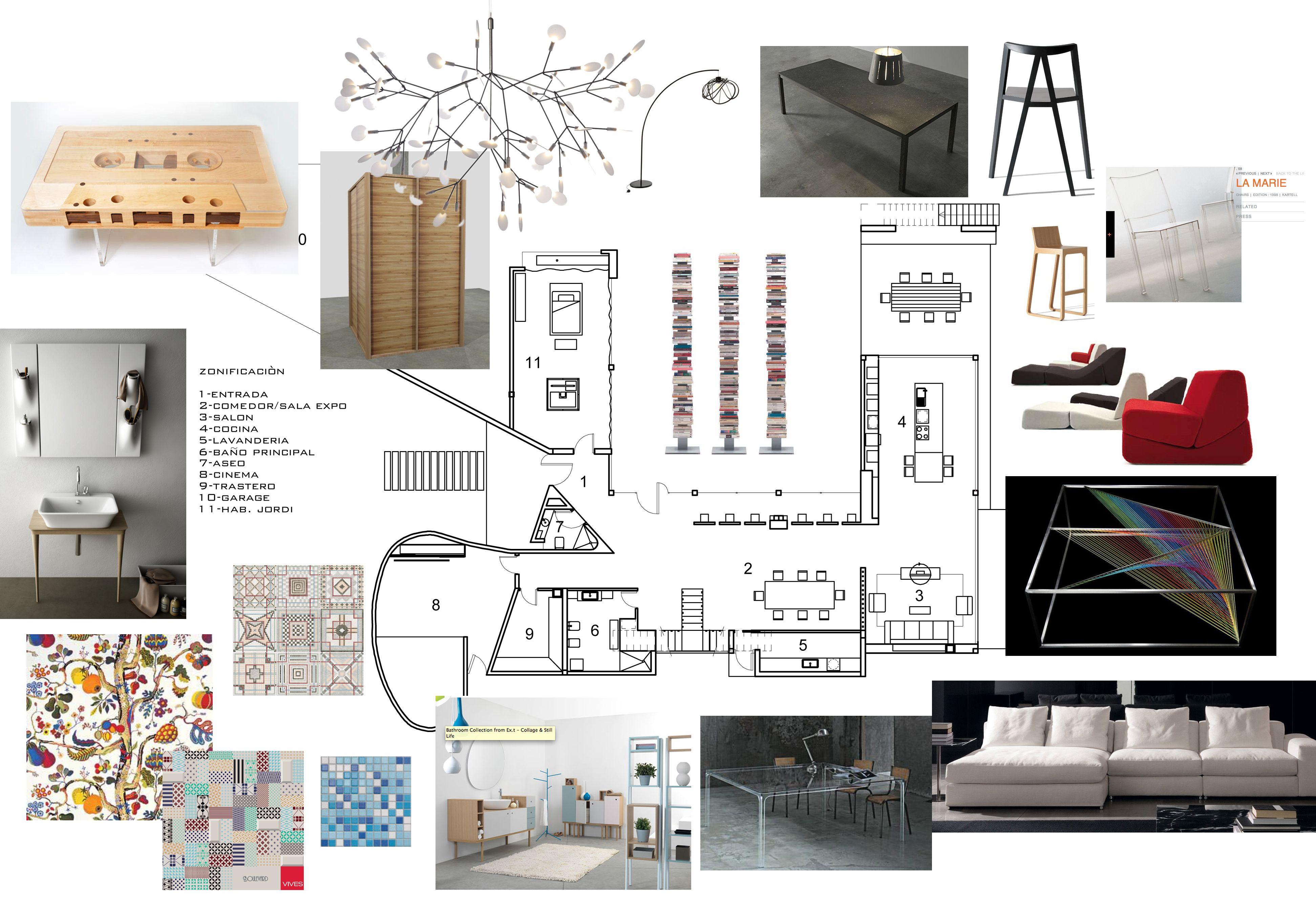 Selección De Mueble Planta De Distribución Interior Design Layout Layout Design Project Presentation