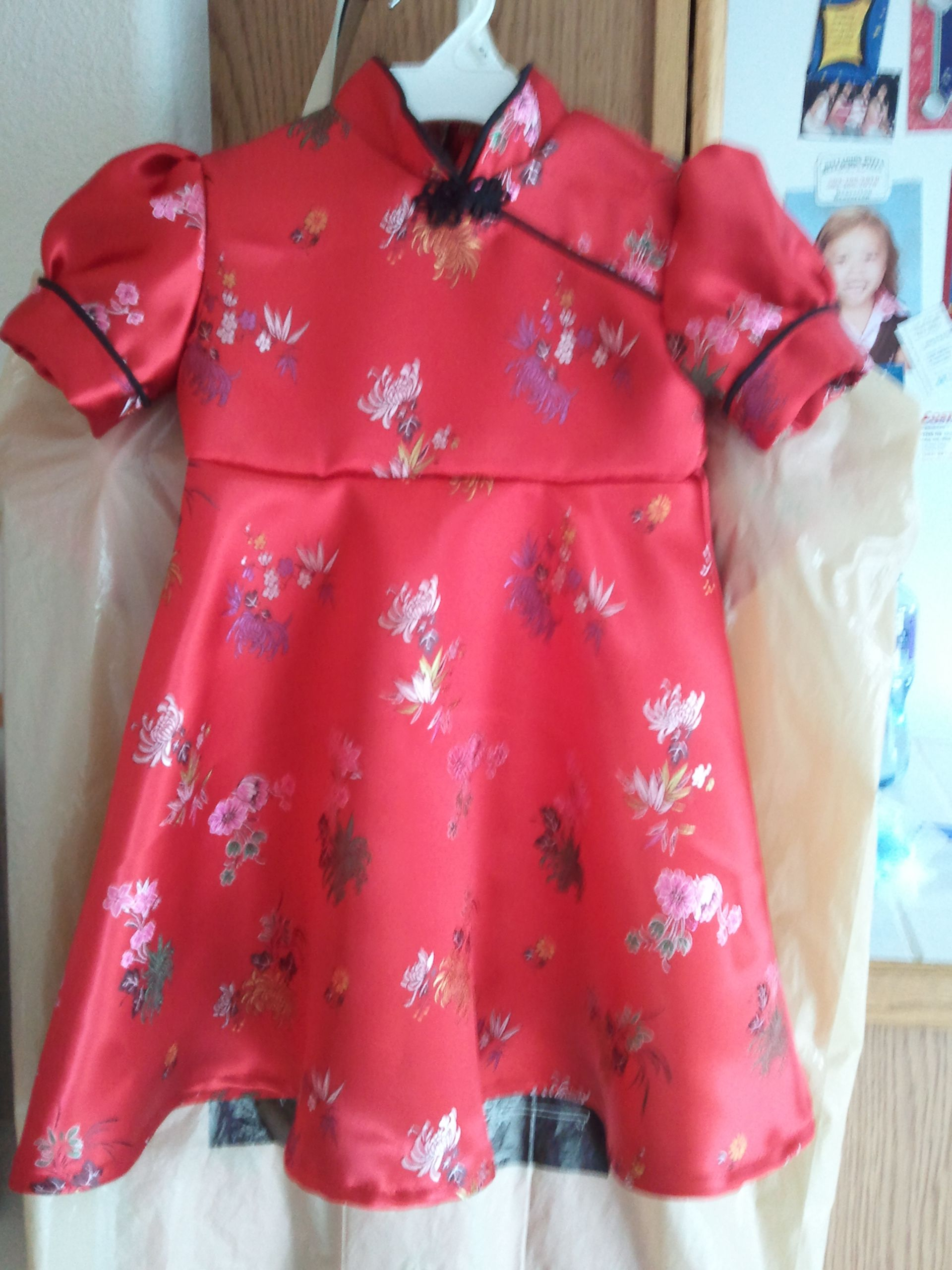 Little girl s red Chinese dress Home Sewn Pinterest