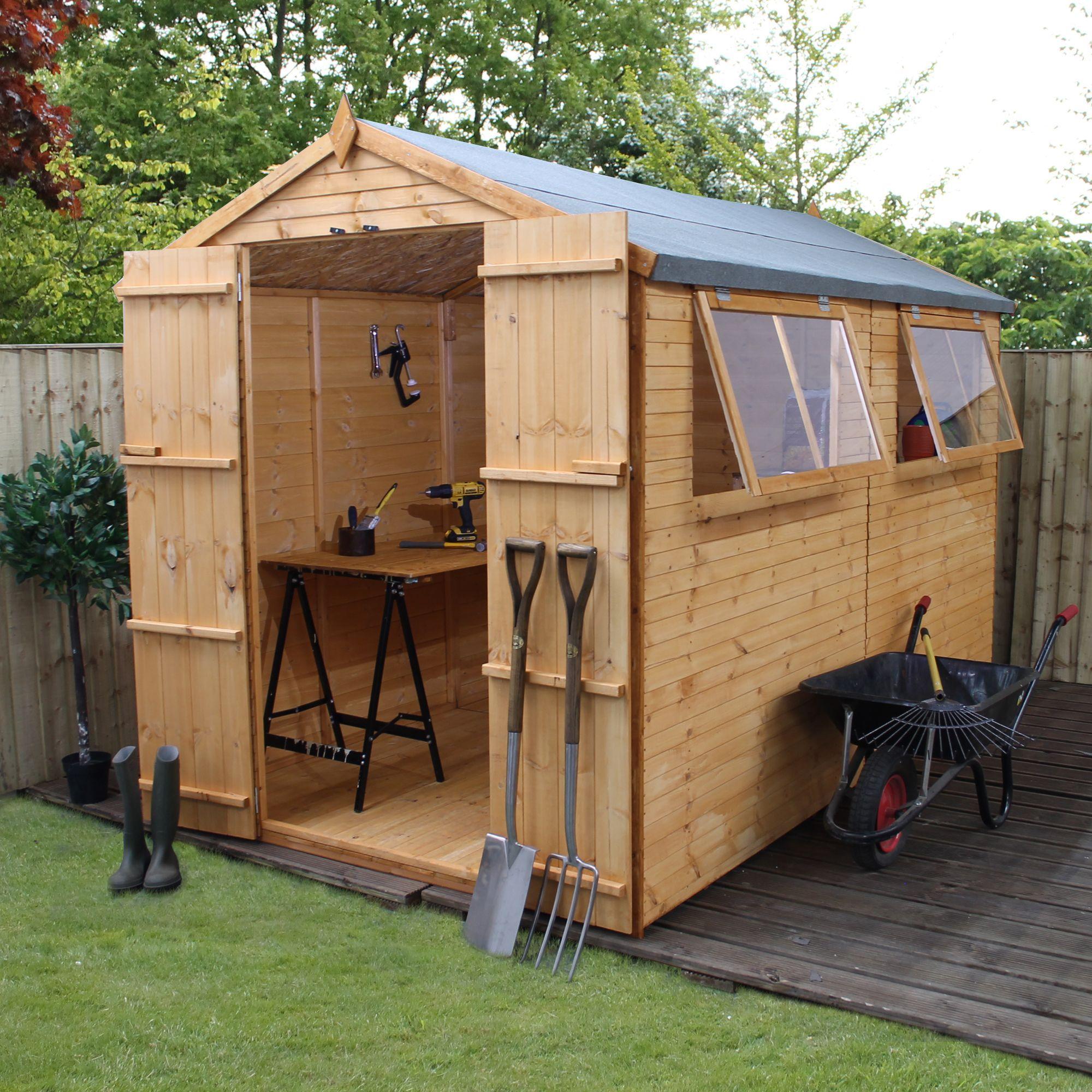 diy storage shed foundation