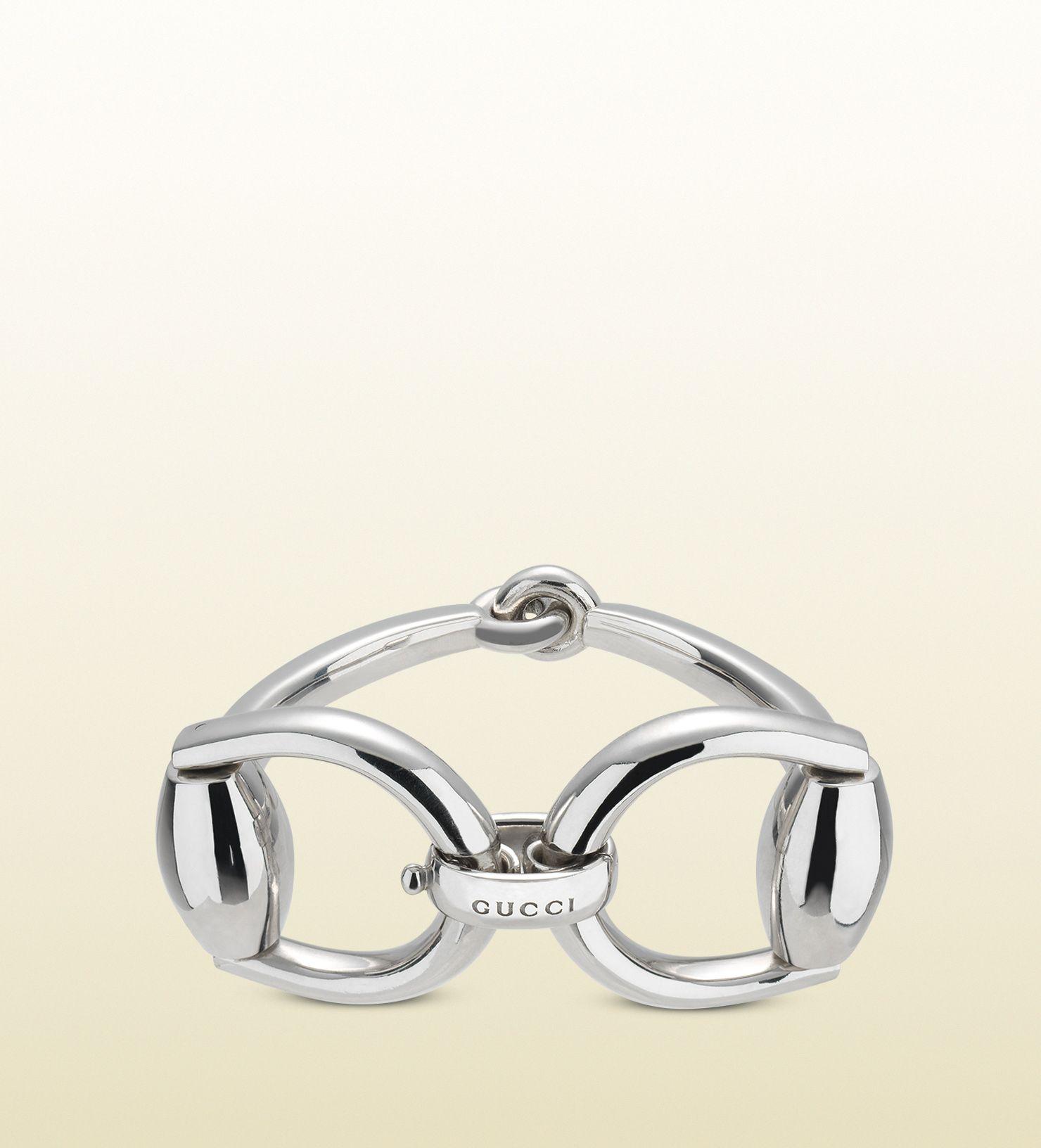 Horsebit Bracelet In Silver