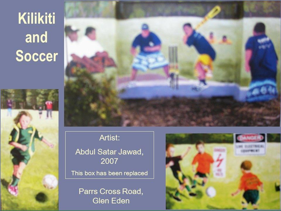 Kilikiti And Soccer Public Artwork Painted Boxes Cross Roads