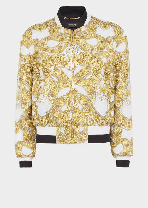 0c91b901e60734 Barocco Istante Silk Blouson - Versace Jackets   Coats