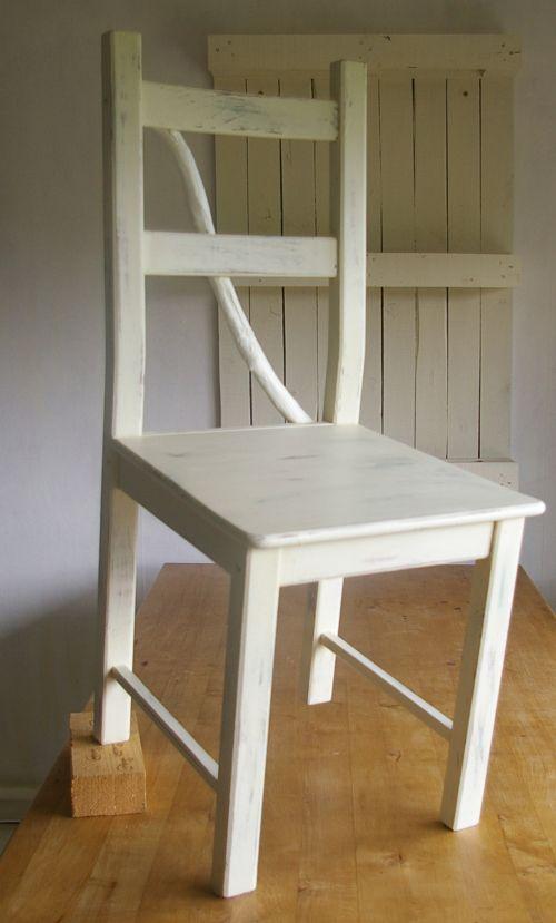 antiker Stuhl im shabby look,upcycling alter Stuhl, Weiters unter ...