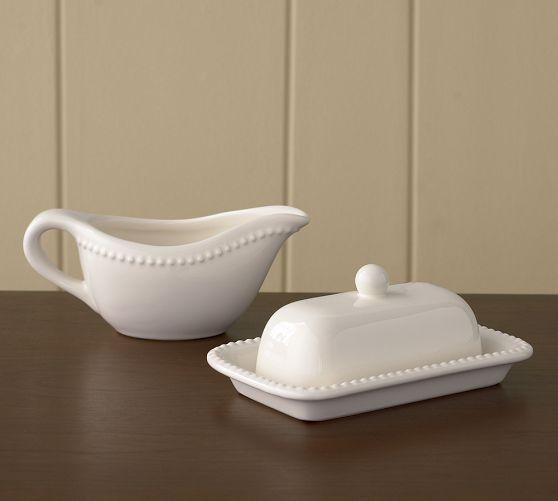 Emma Gravy Boat & Butter Dish | Pottery Barn