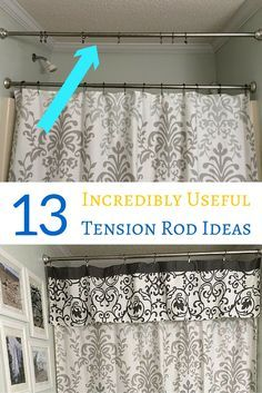 13 Ways To Organize Your Home With Tension Rods Curtains For Closet Doors Apartment Organization Diy Tension Rod Curtains What is a tension rod