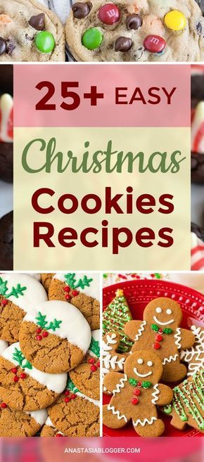 25+ Easy Christmas Cookies Recipes to Try this Year! Easy