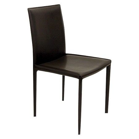 Aimee Leather Dining Chair Steel Set of 4 Aeon