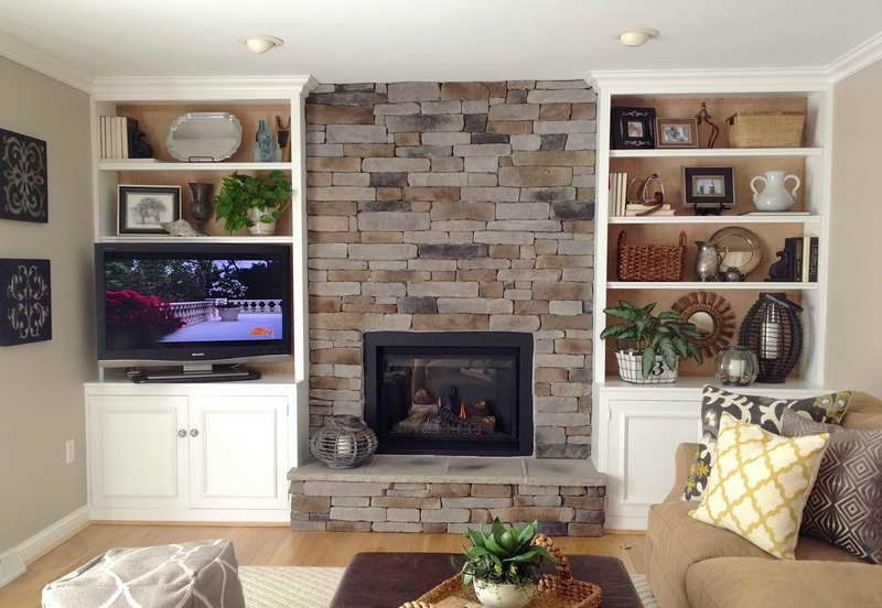 DIY Built in Bookcase with Fireplace (With images) Built