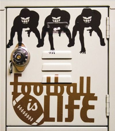 Decorate a locker with creative vinyl decals you can make