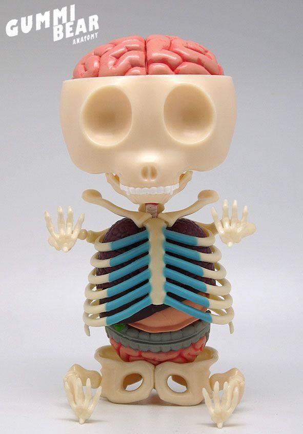 Gummi Bear Anatomy Red Art Toys Anatomie Gummy J Freeny Rare