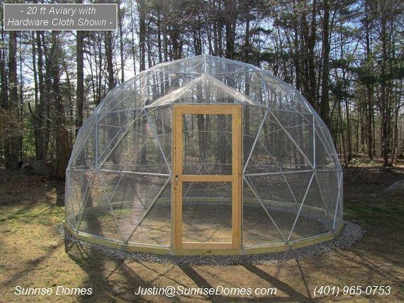 20 ft geodesic dome outdoor aviary flight cage animal pen garten pinterest k fig garten. Black Bedroom Furniture Sets. Home Design Ideas