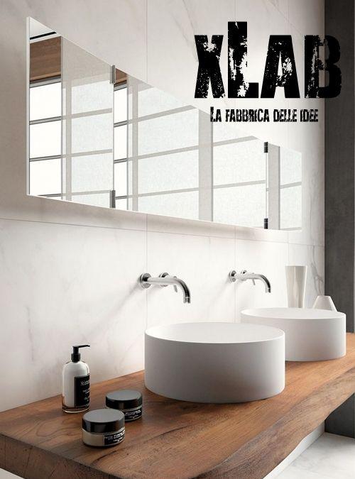 mensola top piano lavabo in legno massello costruito interamente in italia da xlab design