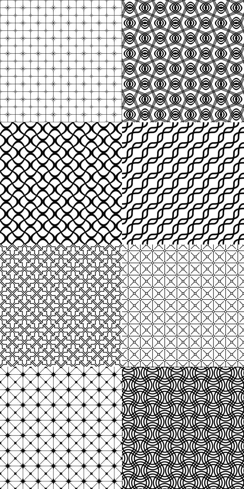 90 Vector Grid Patterns Black And White Pattern Background Collection Eps Jpg Grid Design Pattern Geometric Pattern Design Monochrome Pattern