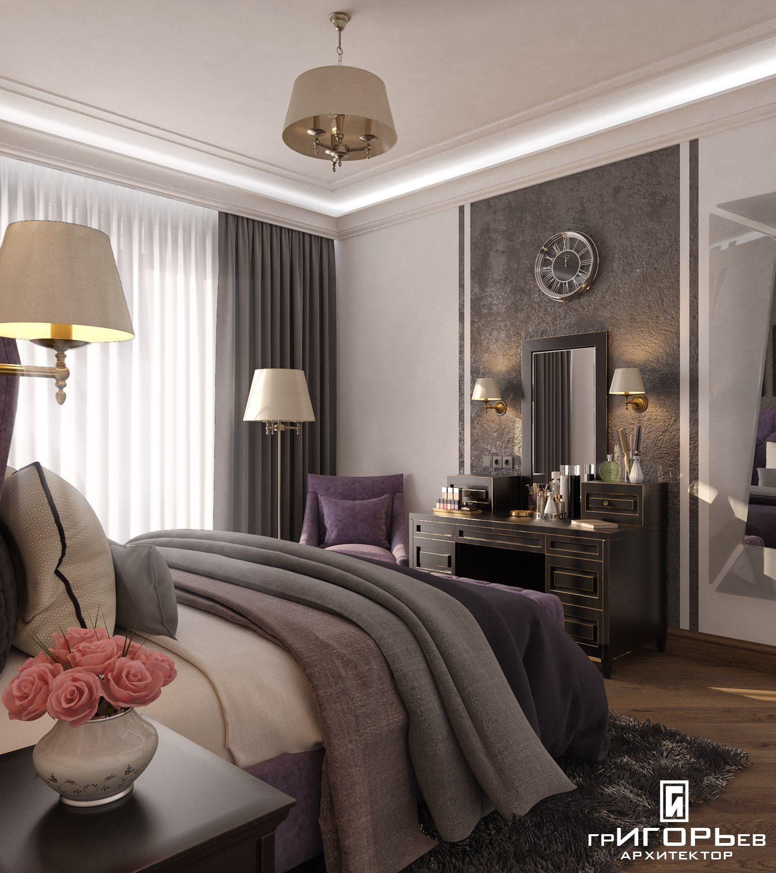 Фото интерьер спаРьни из проекта Дизайн интерьера трехкомнатной