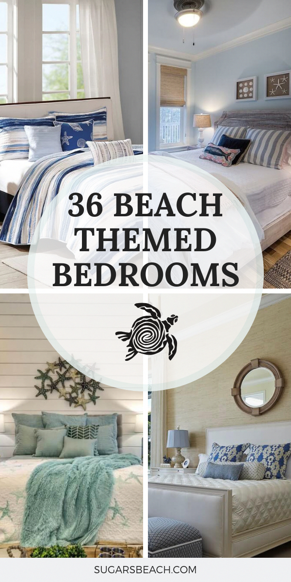 26 Beach Themed Bedroom Ideas - Get design inspiration from these coastal decor bedrooms. Design ideas to turn your bedroom into a beach and tropical paradise! #beachHomeDecor #coastalbedrooms