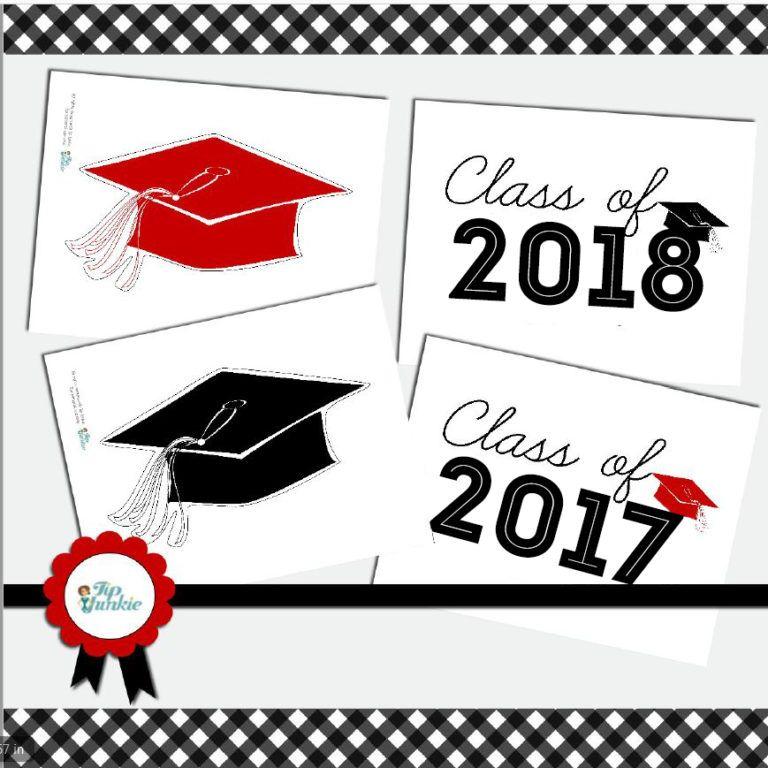 Magnificent 17 Graduation Cap Photo Prop And Yard Sign Printables Download Free Architecture Designs Scobabritishbridgeorg