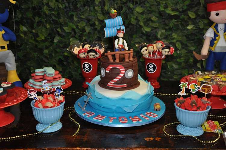 Pirate birthday party dessert table!  See more party planning ideas at CatchMyParty.com!