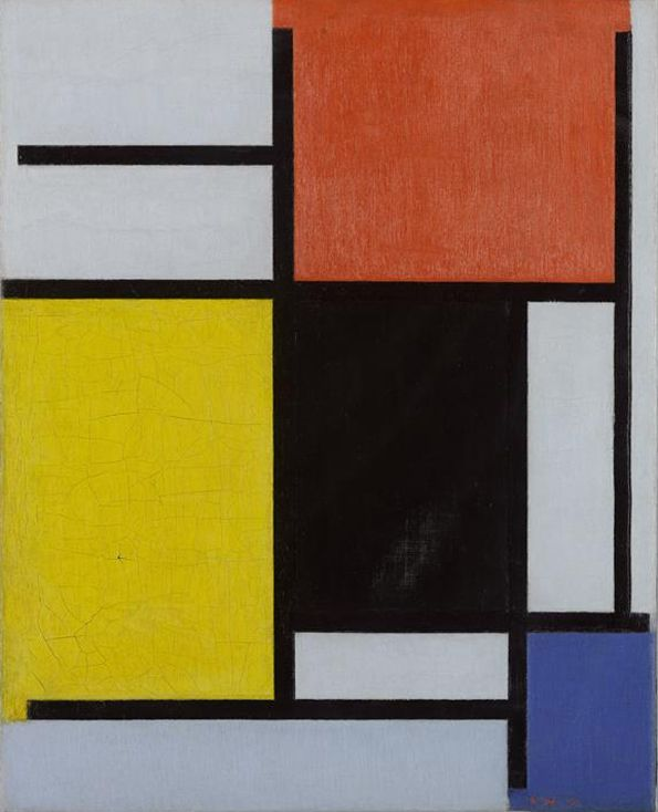 Piet Mondrian, Composition with Red, Yellow, Black, Blue and Grey ...