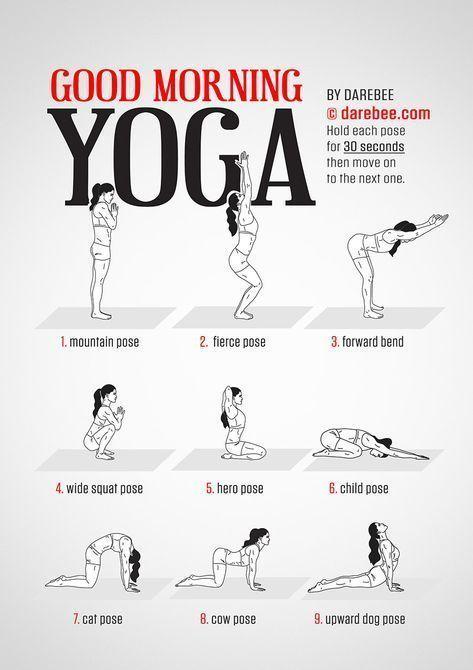 Guten Morgen Yoga Workout von Darebee #Fitness #trainieren #darebee #Darebee #Fitness #Fitness Train...