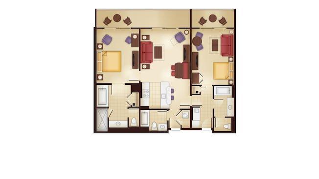 33++ Animal kingdom lodge 2 bedroom villa floor plan info