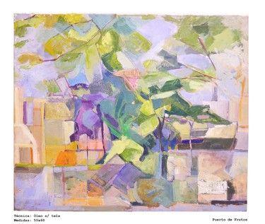 "Astrid Obonaga; Painting, ""Llegando al Delta"""