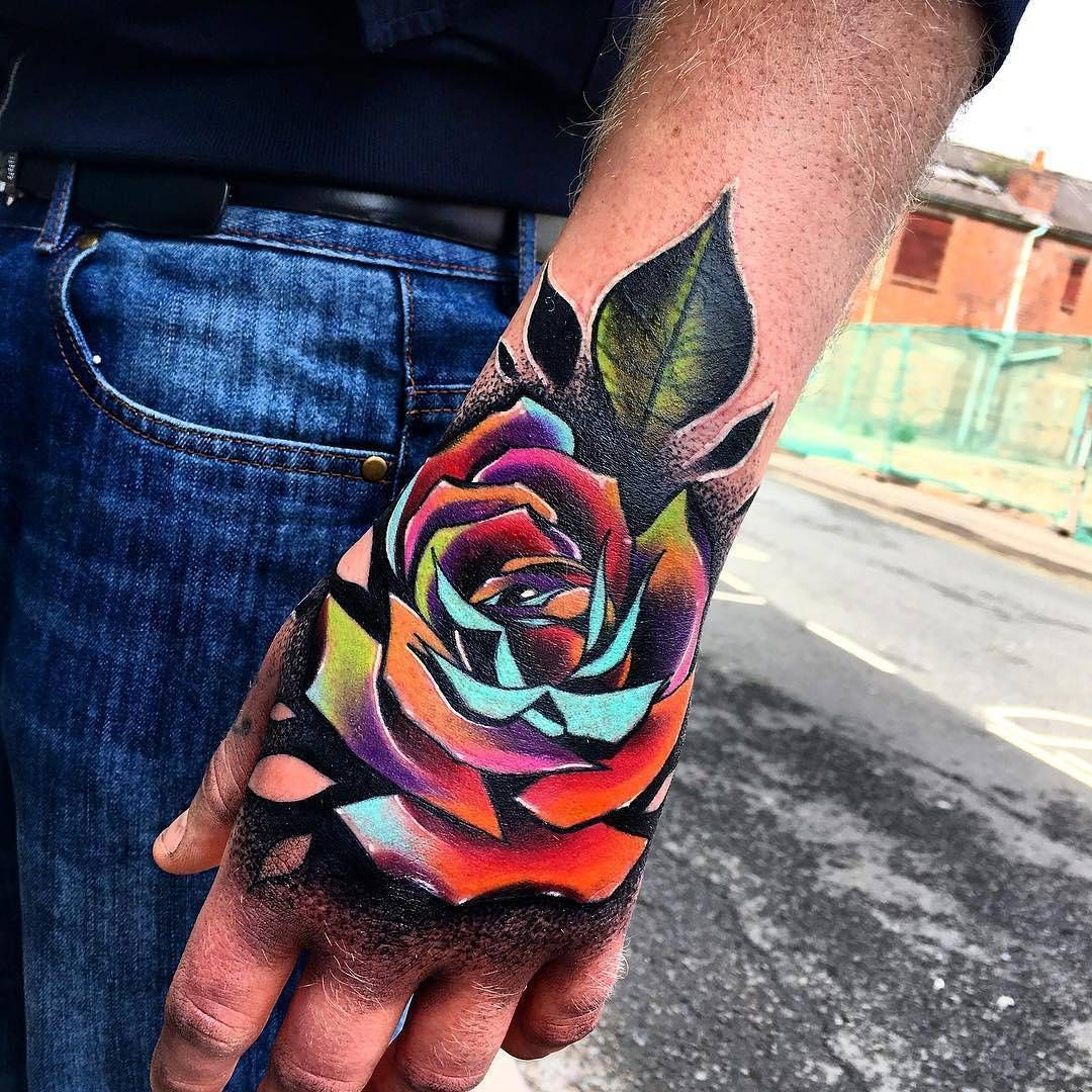 Pin By Ashley Swanson On Hand Tattoos Hand Tattoos For Guys Hand Tattoos Rose Hand Tattoo